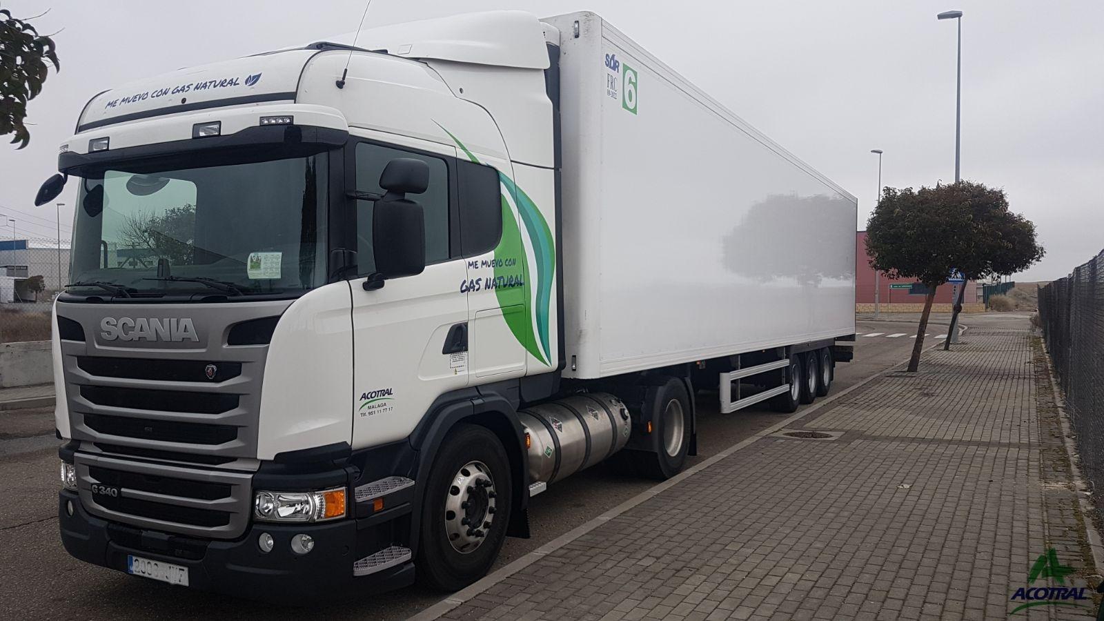 Acotral incorpora a su flota ocho camiones de GNL de Scania
